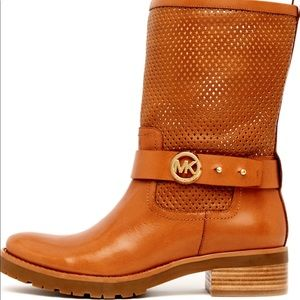 Michael Kors Daria Perforated Boots-NWOB